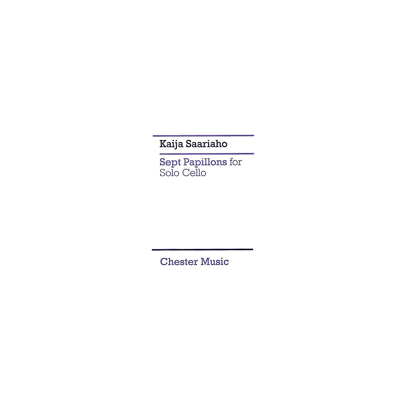 Chester Music 7 Papillons (for Cello Solo) Music Sales America Series thumbnail