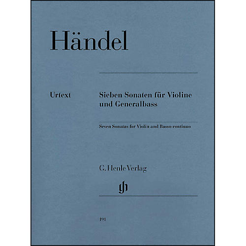 G. Henle Verlag 7 Sonatas for Violin and Basso Continuo By Handel thumbnail