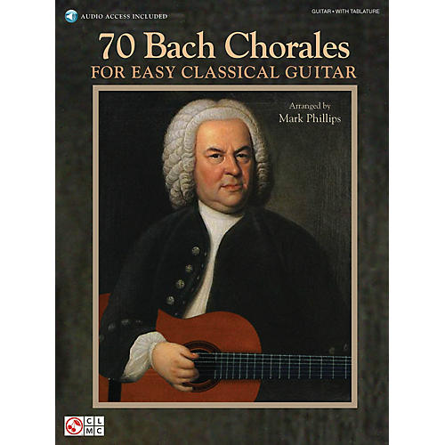 Cherry Lane 70 Bach Chorales for Easy Classical Guitar Easy Guitar Series Softcover Audio Online thumbnail