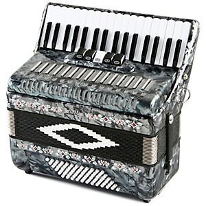 SofiaMari SM 3472 34 Piano 72 Bass Button Accordion Pearl Gray