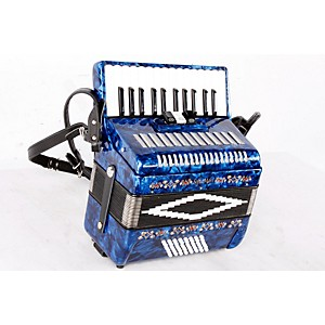 SofiaMari SM-2648, 26 Piano 48 Bass Accordion Dark Blue Pearl 888365219950