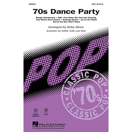 Hal Leonard '70s Dance Party (Medley) SSA Arranged by Kirby Shaw thumbnail