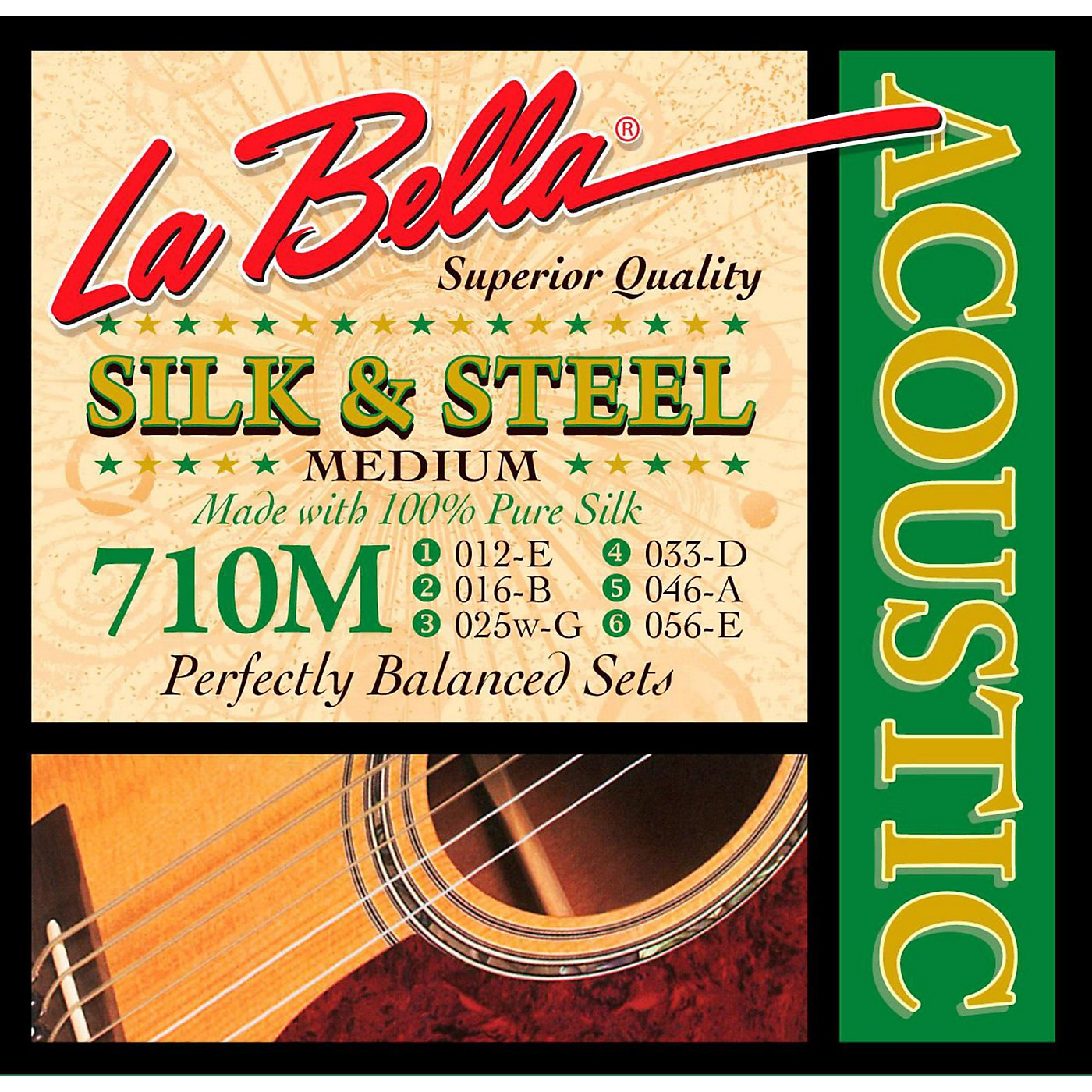 LaBella 710M Silk & Steel Medium Acoustic Guitar Strings thumbnail