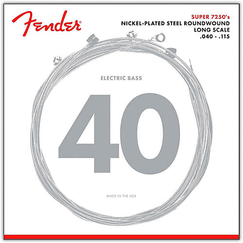 Fender 7250-5L Super Bass Nickel-Plated Steel Long Scale 5-String Bass Strings - Light thumbnail