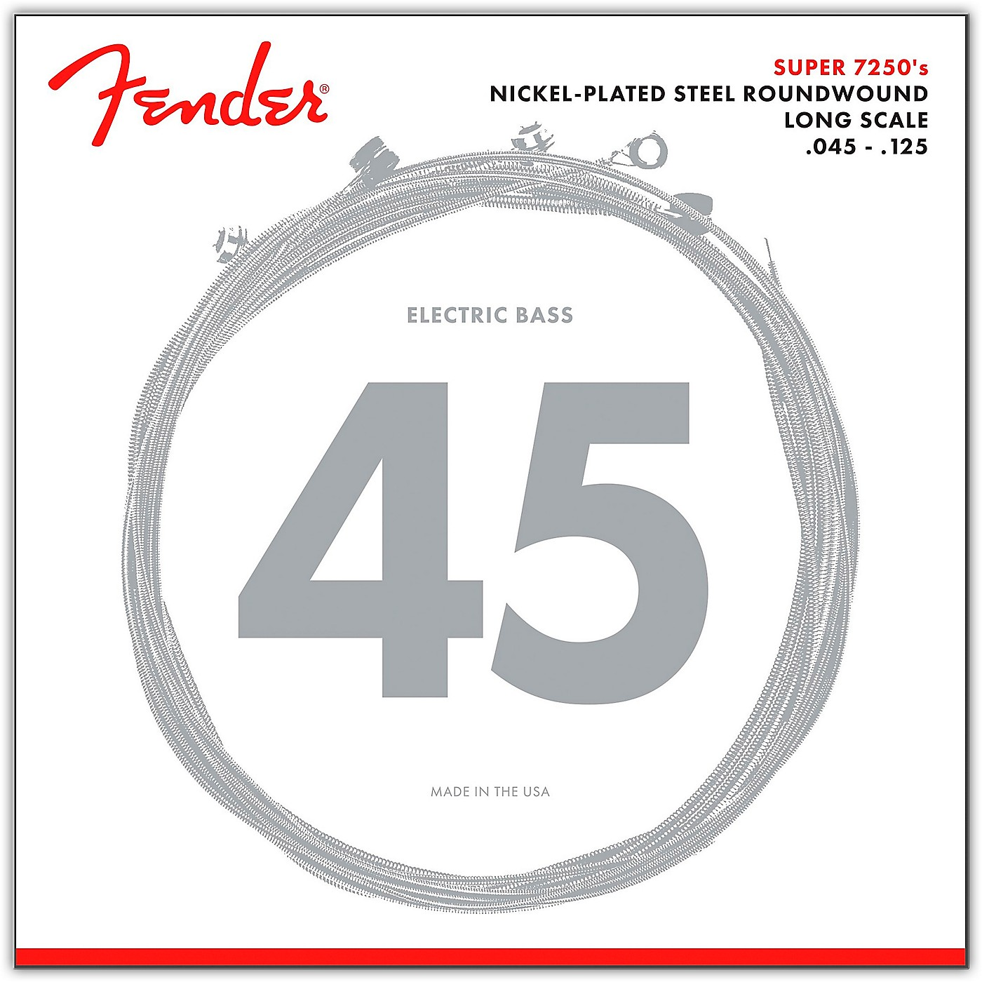Fender 7250-5M Super Bass Nickel-Plated Steel Long Scale 5-String Bass Strings - Medium thumbnail