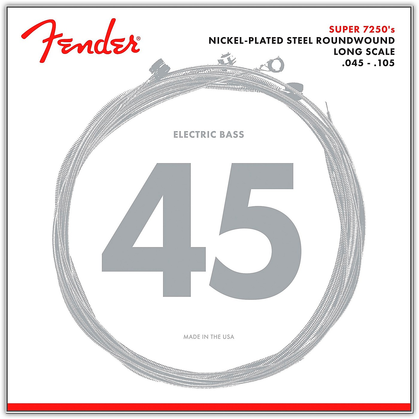 Fender 7250M Super Bass Nickel-Plated Steel Long Scale Bass Strings - Medium thumbnail