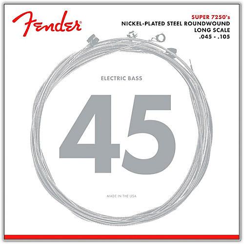 Fender 7250M Super Bass Nickel-Plated Steel Long Scale Bass Strings - Medium-thumbnail