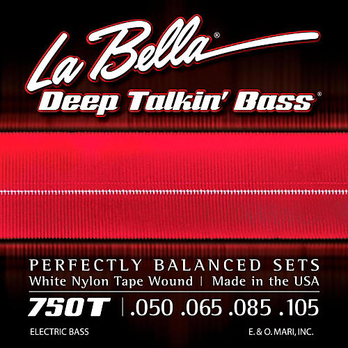LaBella 750T White Nylon Tape Wound Light Electric Bass Strings thumbnail