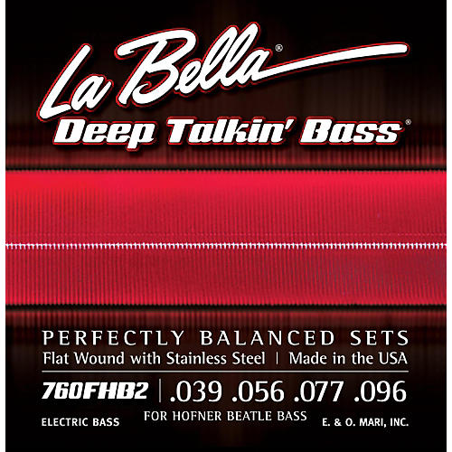 LaBella 760FHB2 Beatle Bass Flat Wound Light Electric Bass Strings thumbnail