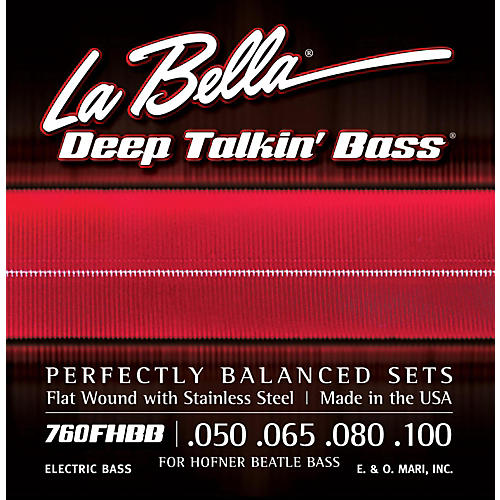 LaBella 760FHBB Beatle Bass Flat Wound Standard Electric Bass Strings thumbnail