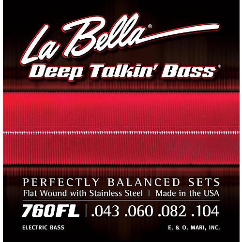 LaBella 760FL Deep Talkin' Bass Flat Wound Light Electric Bass Strings thumbnail