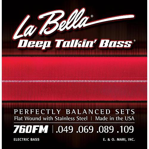 LaBella 760FM Deep Talkin' Bass Flat Wound Medium Electric Bass Strings thumbnail