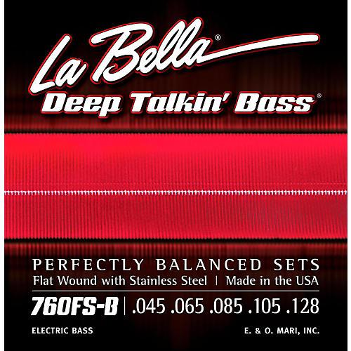 LaBella 760FS-B Deep Talkin' Bass Flat Wound Standard 5-String Electric Bass Strings thumbnail