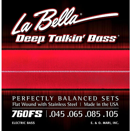 LaBella 760FS Deep Talkin' Bass Flat Wound Standard Electric Bass Strings thumbnail