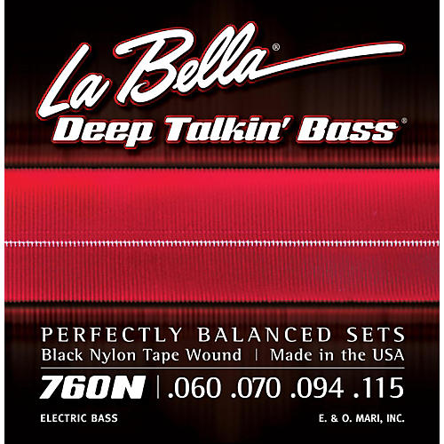 LaBella 760N Black Nylon Tape Wound Standard Electric Bass Strings thumbnail