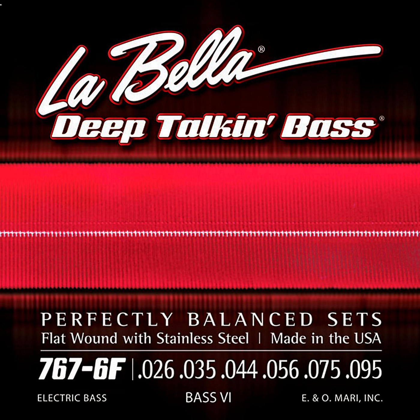 LaBella 767-6F Flat Wound 6-String Bass VI Strings thumbnail