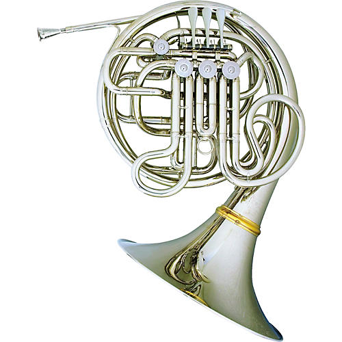 Hans Hoyer 7801 Nickel Double French Horn-thumbnail