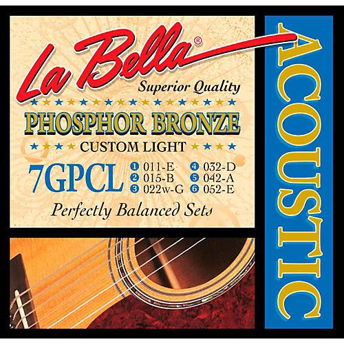 LaBella 7GPCL Phosphor Bronze Custom Light Acoustic Guitar Strings thumbnail