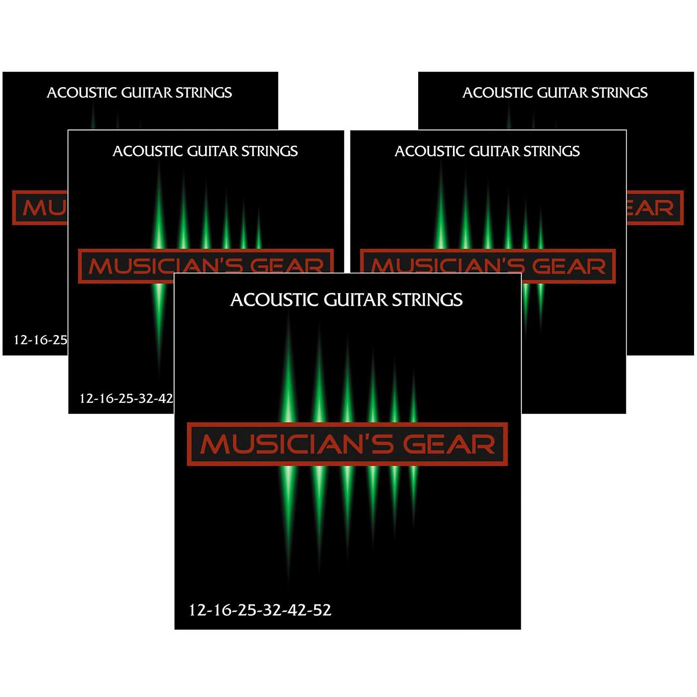 Musician's Gear 80/20 Bronze Acoustic Guitar StringsLight 5-Pack thumbnail