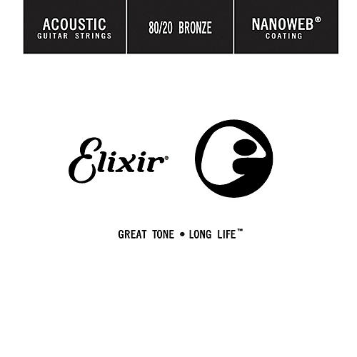Elixir 80/20 Bronze Single Acoustic Guitar String with NANOWEB Coating (.024) thumbnail