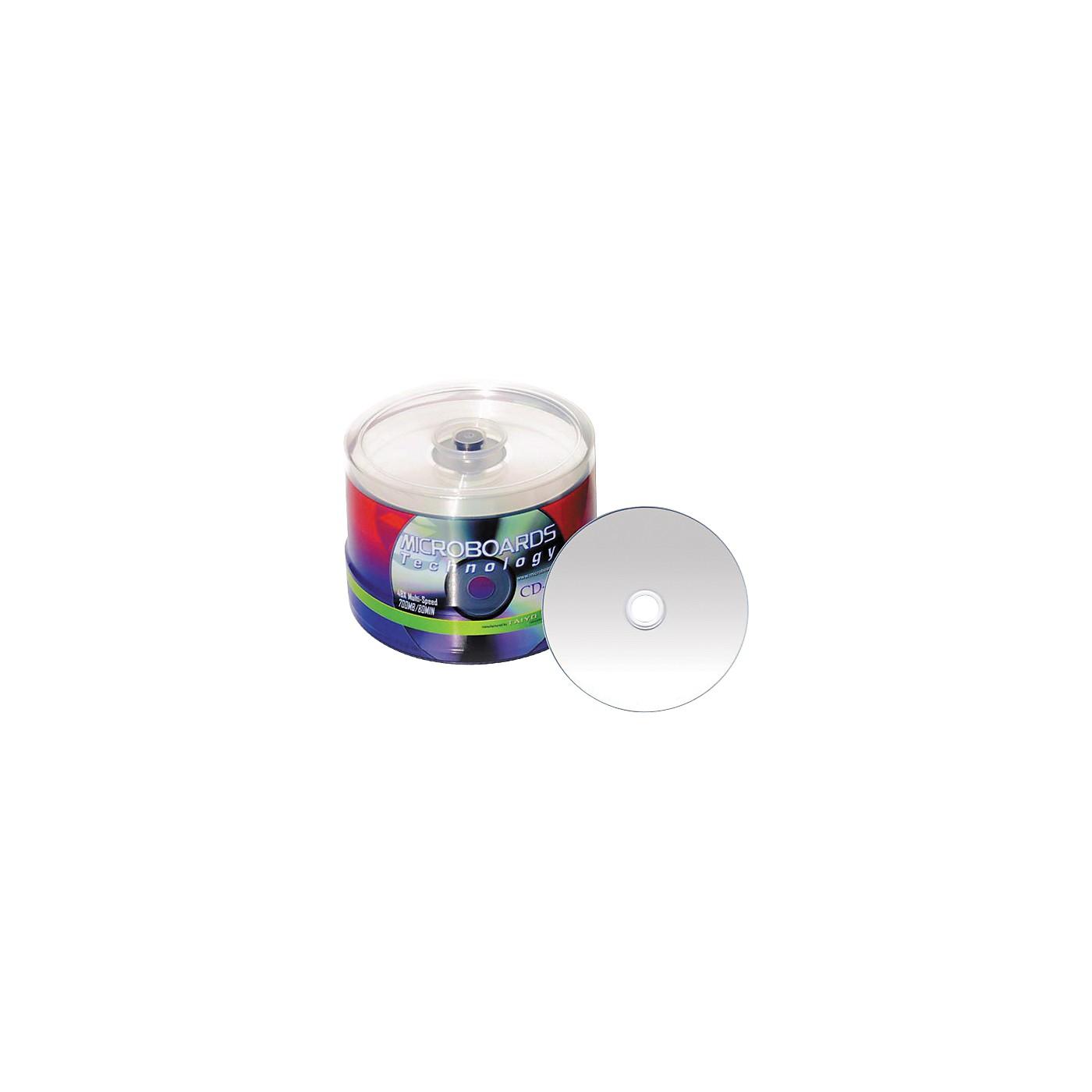 Taiyo Yuden 80 Minute/700 MB CD-R, 52X Silver Inkjet Hub Printable, 100 Disc Spindle thumbnail