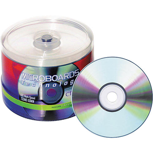 Taiyo Yuden 80 Minute/700 MB CD-R 52X Silver Thermal (Hub Printable), 100 Disc Spindle thumbnail