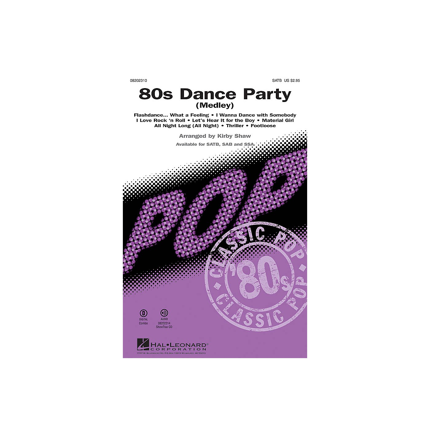 Hal Leonard 80s Dance Party (Medley) SSA Arranged by Kirby Shaw thumbnail