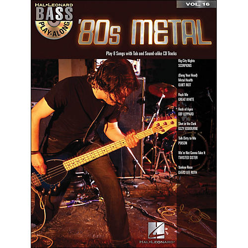 Hal Leonard 80s Metal Bass Play-Along Volume 16 Book/CD thumbnail