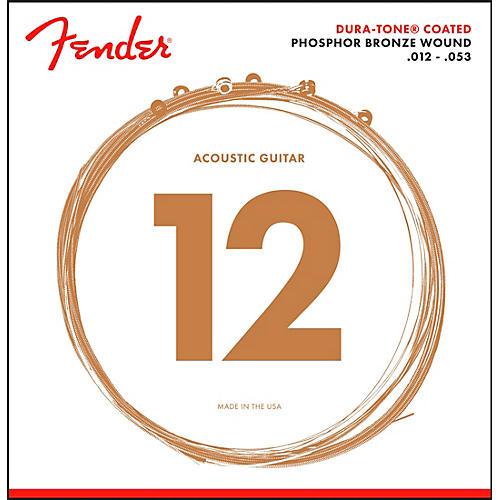 Fender 860L Phosphor Bronze Dura-Tone Coated Acoustic Guitar Strings 12-53 thumbnail