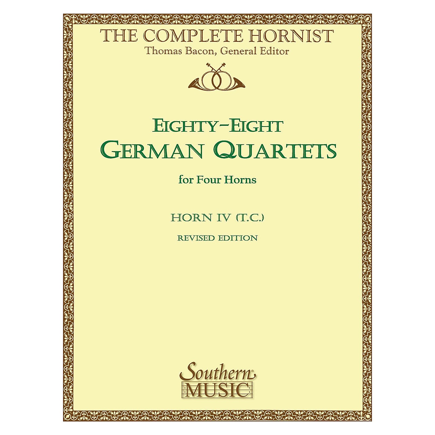 Southern 88 German Quartets (Horn Quartet - Horn T.C. 4) Southern Music Series Arranged by Thomas Bacon thumbnail