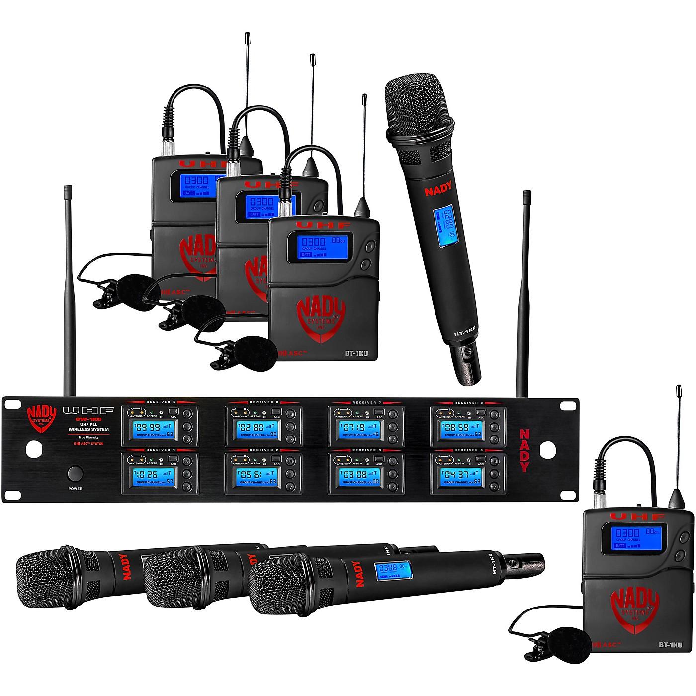 Nady 8W-1KU - Eight 1000-Channel Combo Wireless System thumbnail