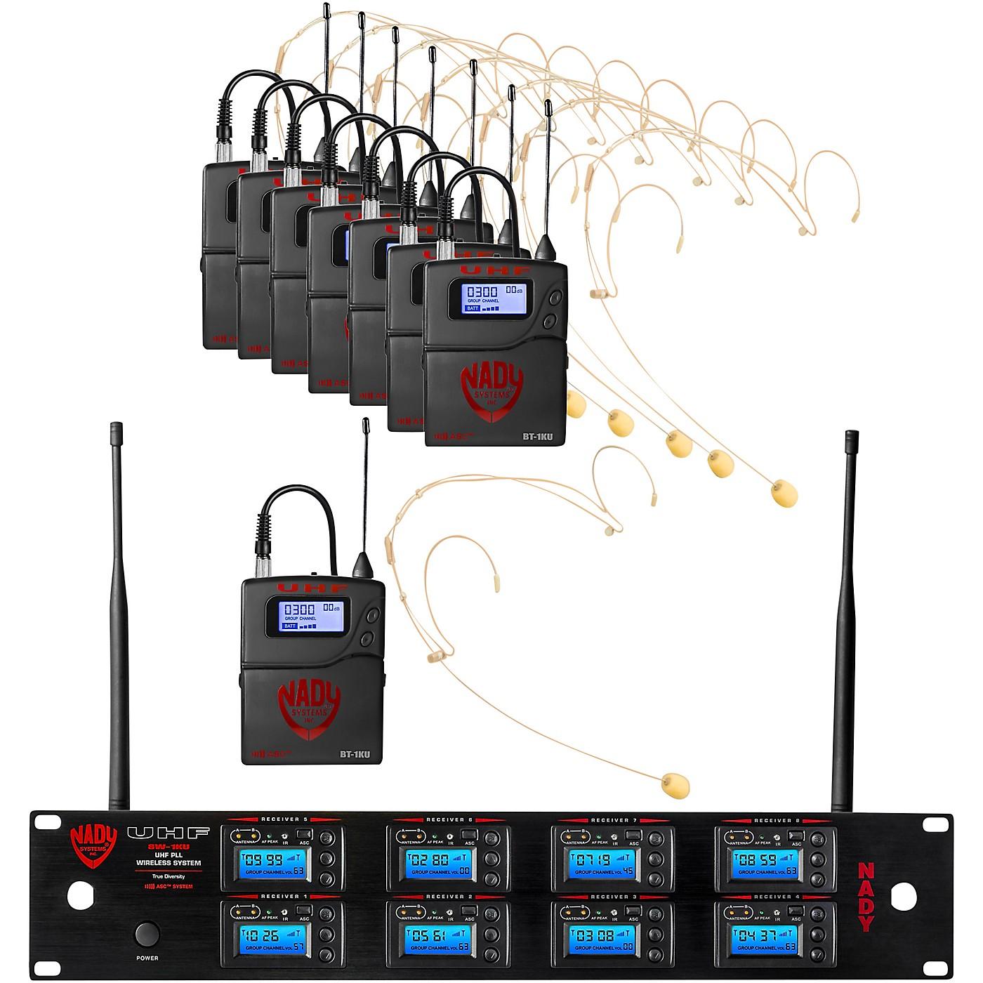Nady 8W-1KU Eight 1000-Channel Headset Wireless System thumbnail