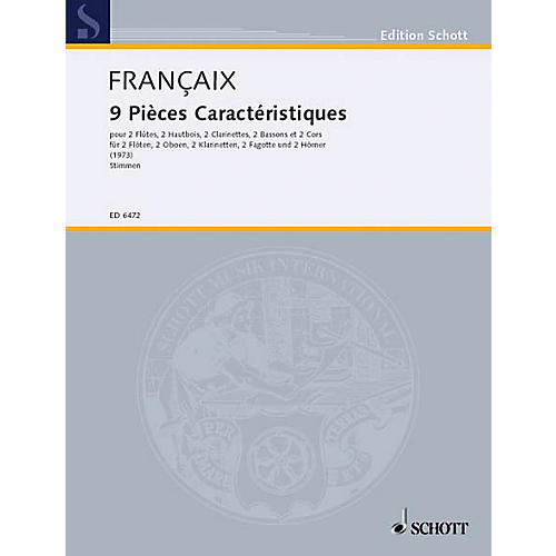 Schott 9 Pieces Caracteristiques (Set of Parts) Schott Series by Jean Françaix thumbnail