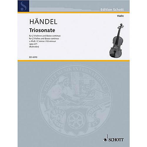 Schott Music 9 Trio Sonatas Op. 2, No. 1 Schott Series Composed by Georg Friedrich Händel thumbnail