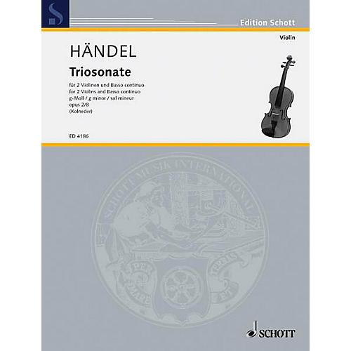 Schott Music 9 Trio Sonatas Op. 2, No. 8 Schott Series Composed by Georg Friedrich Händel thumbnail
