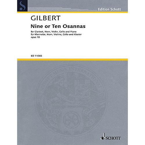 Schott 9 or 10 Osannas Op. 10 Schott Series Composed by Anthony Gilbert thumbnail