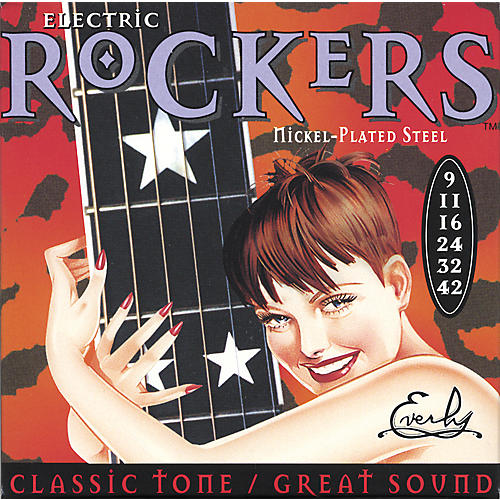 Everly 9009 Electric Rockers Nickel Light Electric Guitar Strings-thumbnail