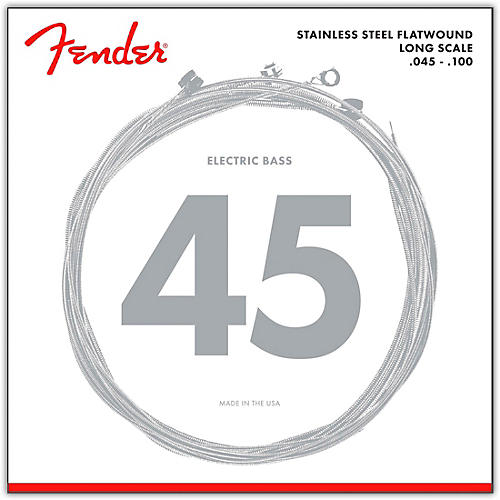 Fender 9050L Stainless Steel Flatwound Long Scale Bass Strings - Light thumbnail