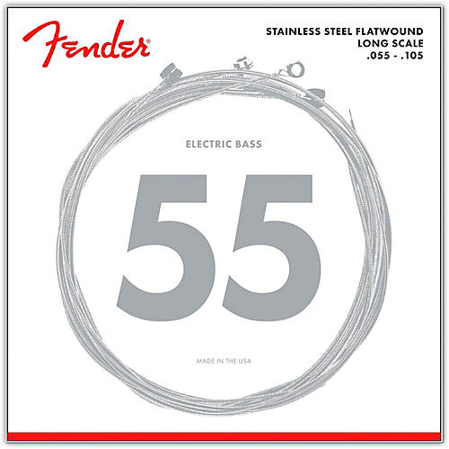 Fender 9050M Stainless Steel Flatwound Long Scale Bass Strings - Medium thumbnail