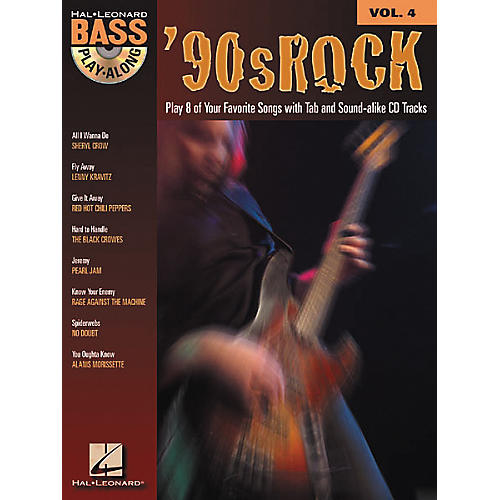 Hal Leonard 90s Rock Bass Play-Along Series Book with CD thumbnail