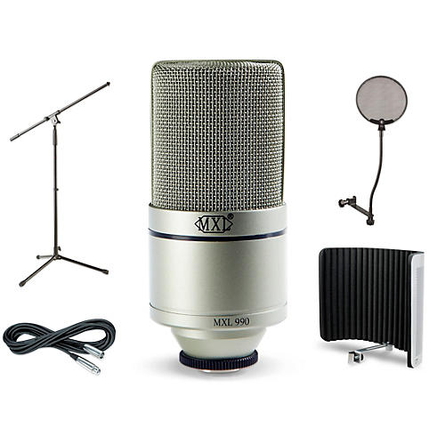 MXL 990 VS1 Stand Pop Filter and Cable Kit thumbnail
