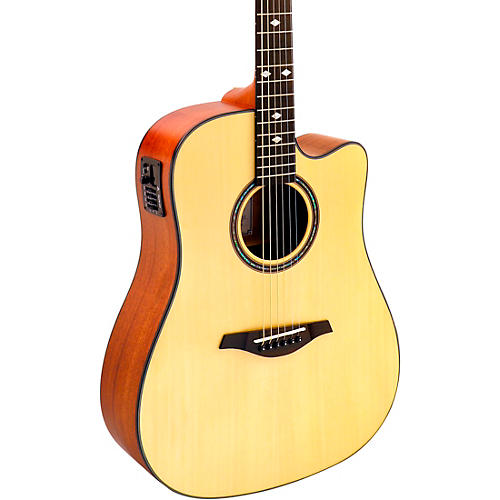 Hohner A+ AS355CE Solid Top Cutaway Dreadnought Acoustic-Electric Guitar With Gig Bag thumbnail