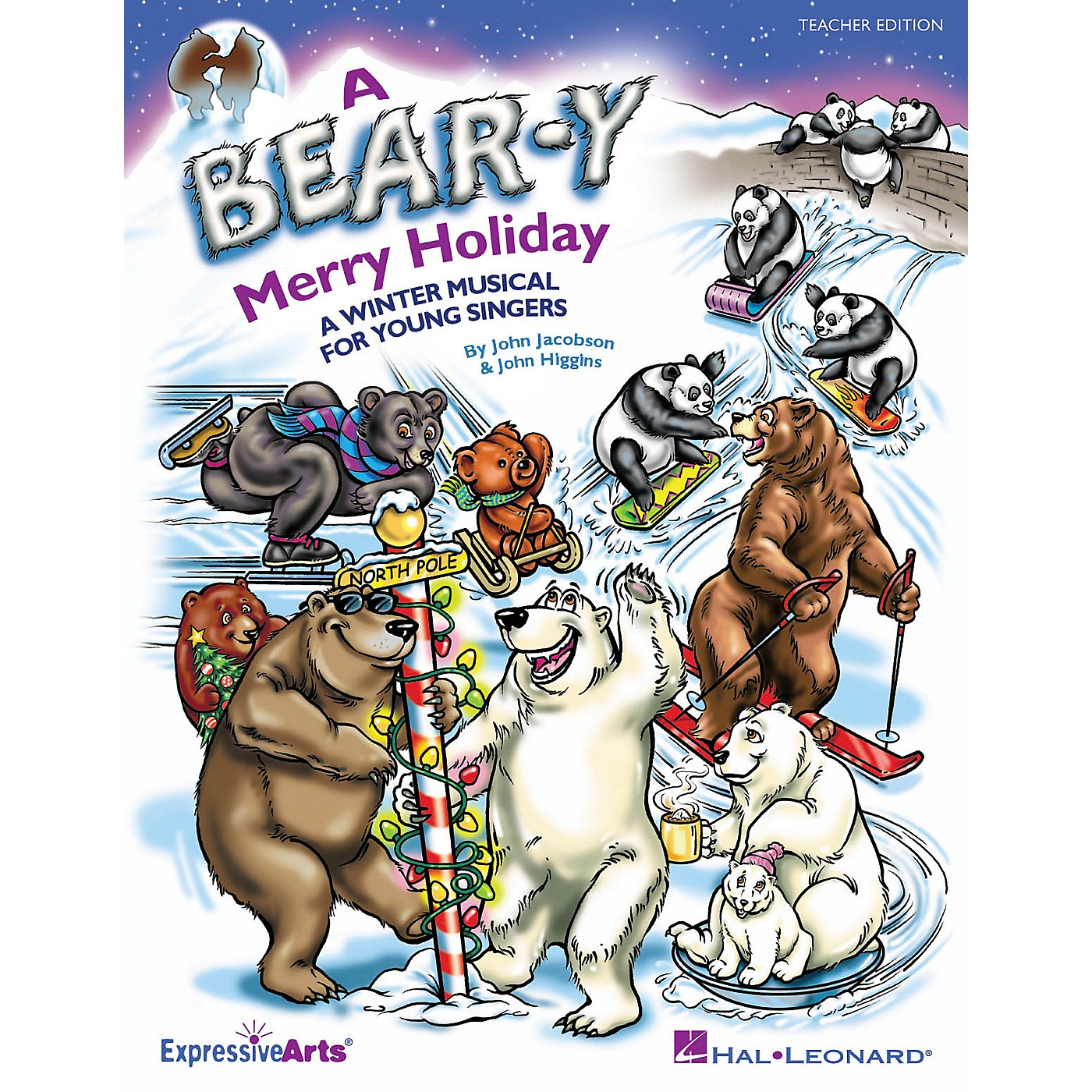 Hal Leonard A Bear-y Merry Holiday (A Winter Musical for Young Singers) CLASSRM KIT Composed by John Higgins thumbnail