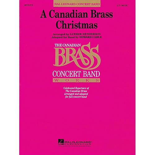 Hal Leonard A Canadian Brass Christmas Concert Band Level 4-5 thumbnail