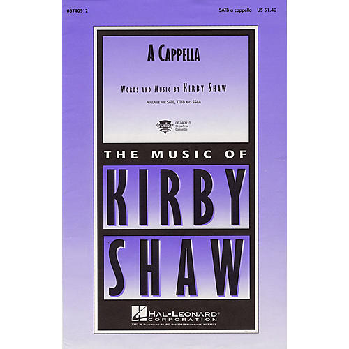 Hal Leonard A Cappella SATB a cappella composed by Kirby Shaw thumbnail