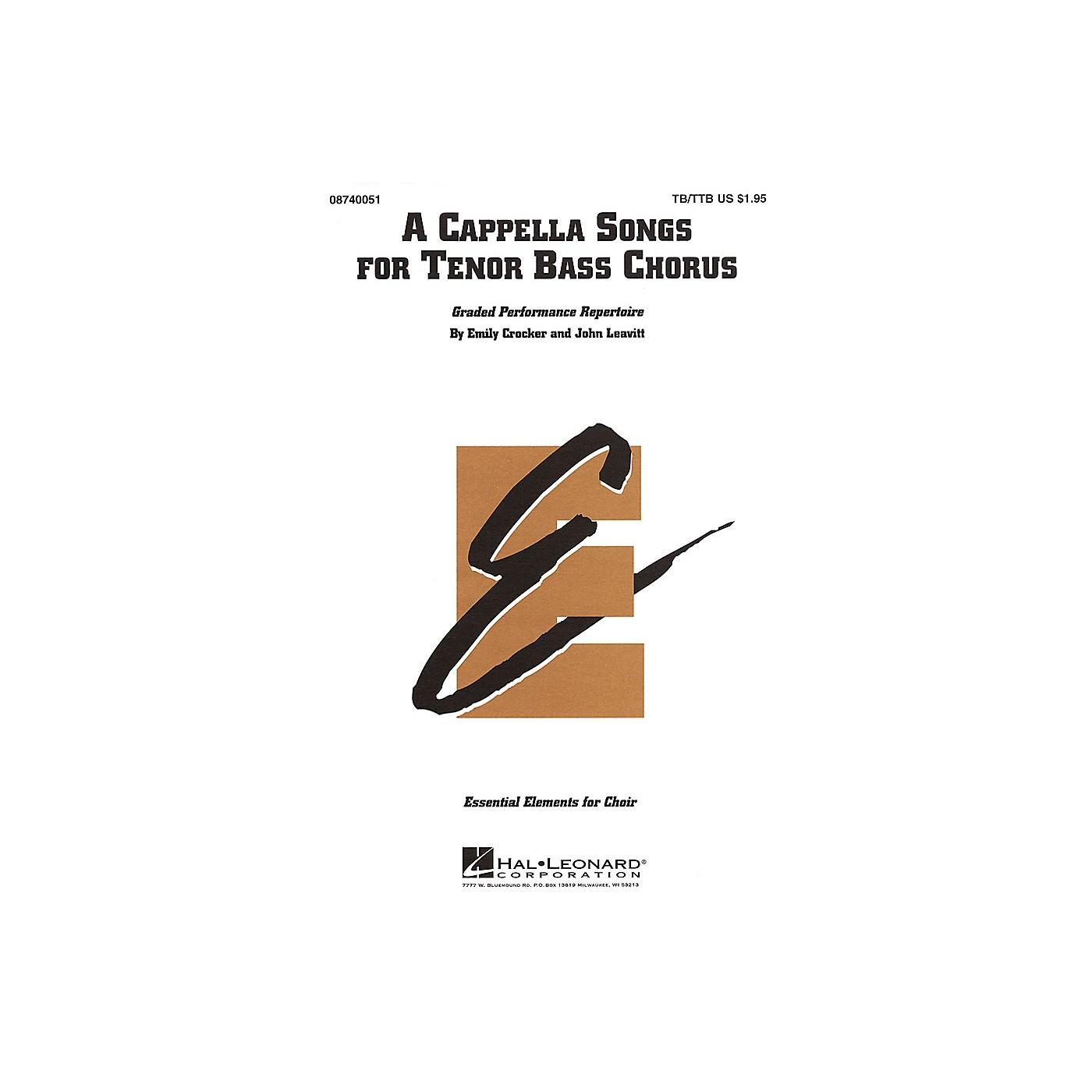 Hal Leonard A Cappella Songs for Tenor Bass Chorus TB/TTB thumbnail