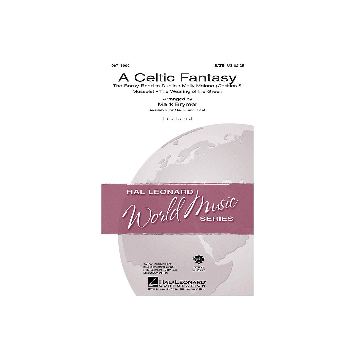 Hal Leonard A Celtic Fantasy SATB arranged by Mark Brymer thumbnail
