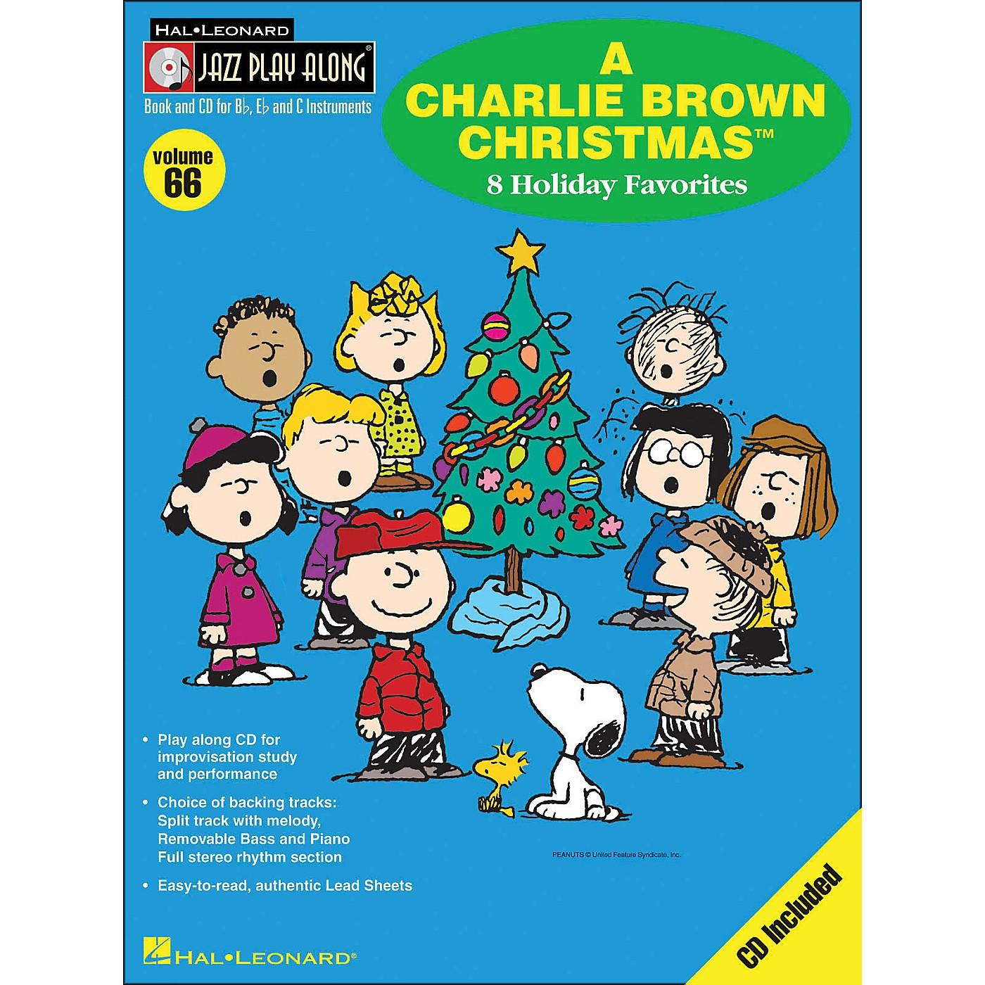 Hal Leonard A Charlie Brown Christmas - Jazz Play-Along Volume 66 BookCD thumbnail