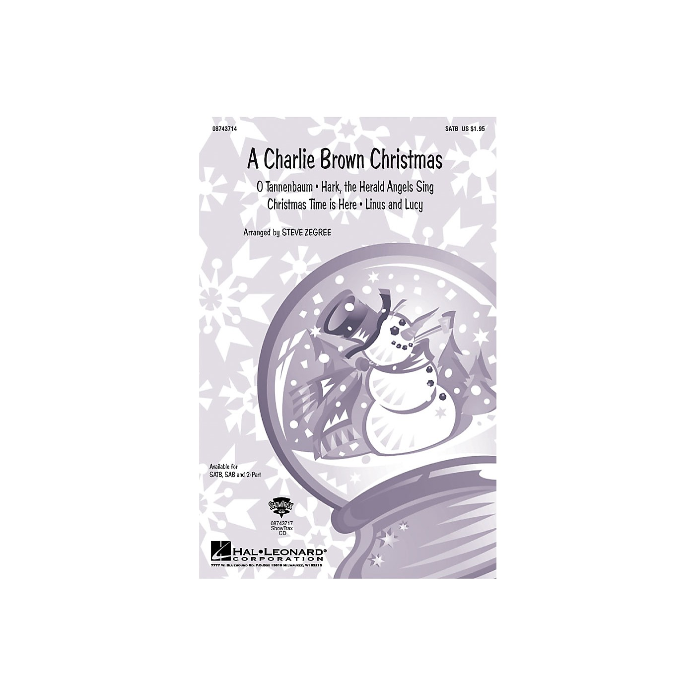 Hal Leonard A Charlie Brown Christmas (Medley) SAB Arranged by Steve Zegree thumbnail