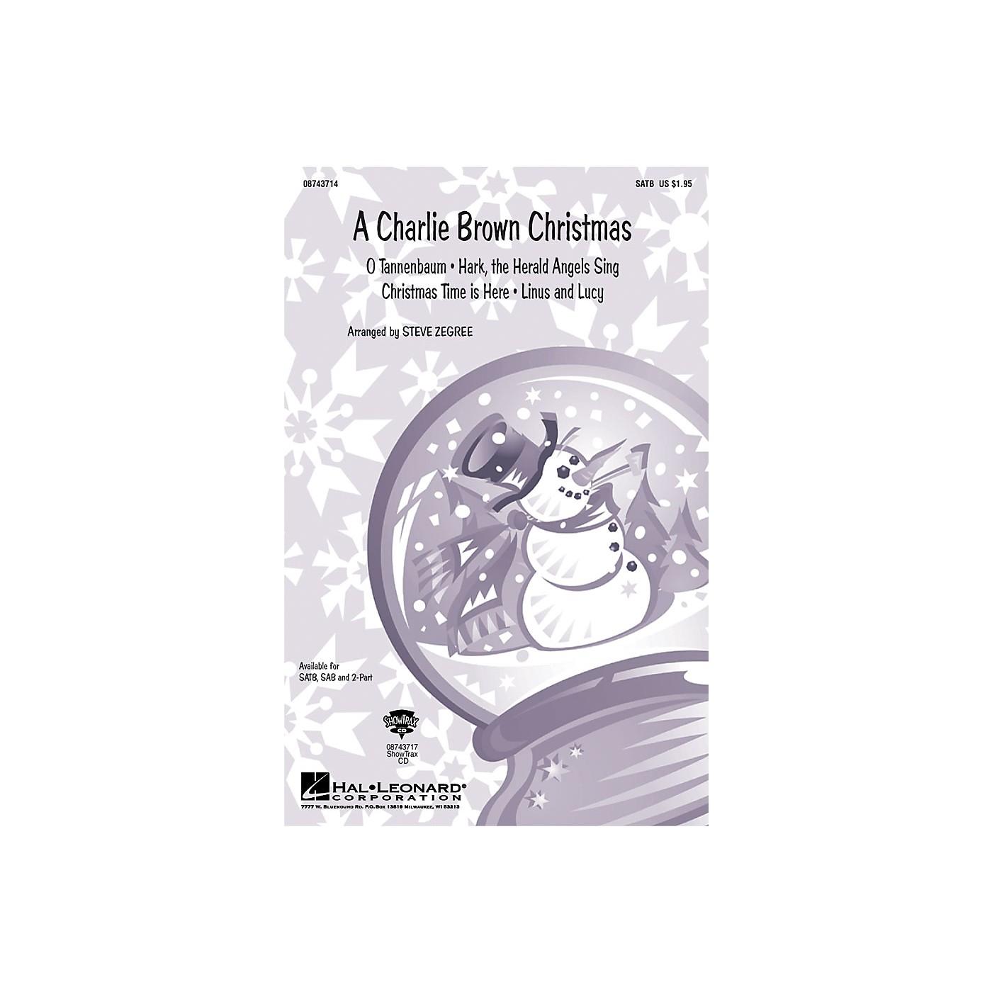 Hal Leonard A Charlie Brown Christmas (Medley) SATB arranged by Steve Zegree thumbnail